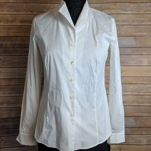 Lafayette 148 New York Collared Button Down Blouse